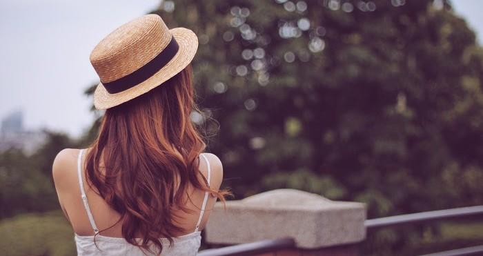 紫外線対策 髪 画像