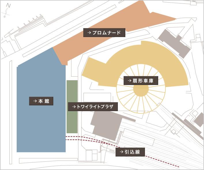 京都鉄道博物館の全体MAP画像
