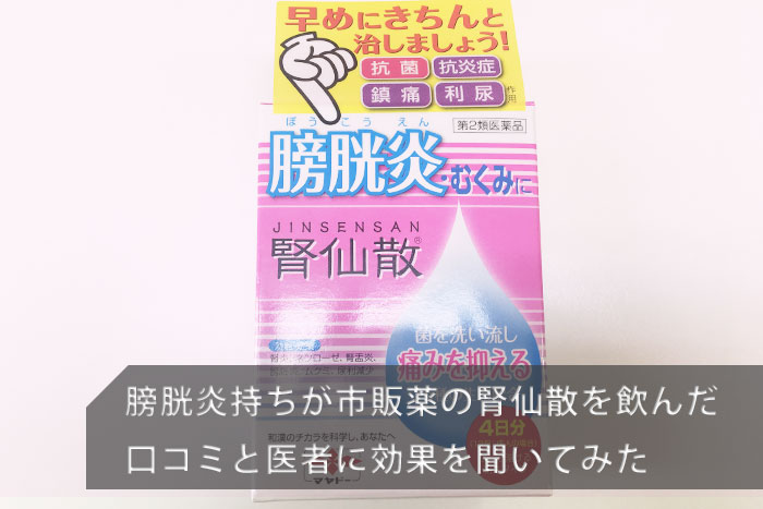 膀胱炎 市販薬 腎仙散 口コミ 画像